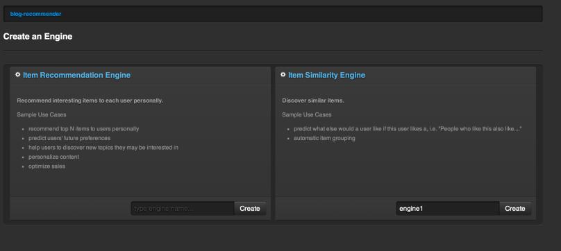 Create Item Similarity Engine