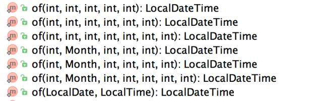 LocalDateTime Of Methods